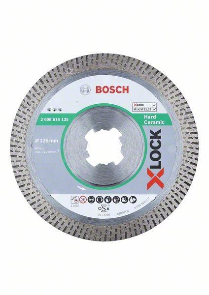 Bosch X-LOCK Diamanttrennscheibe Best for Hard Ceramic 125 mm - 2608615135