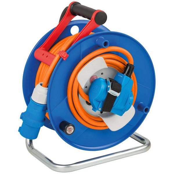 Brennenstuhl CEE-Kabeltrommel mit CEE-Winkelkupplung 230 V/16 A, 23+2m RN-Kabel in orange - 1182470100