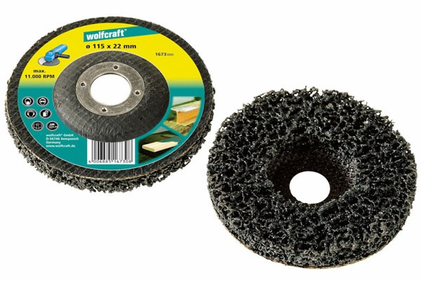 Wolfcraft 1 disco de limpiar universal, 115 mm - 1673000
