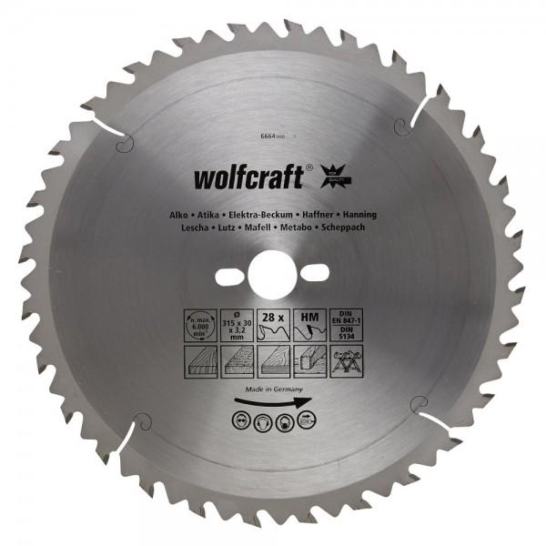 Wolfcraft lama per seghe circolare da banco HM, 28 denti