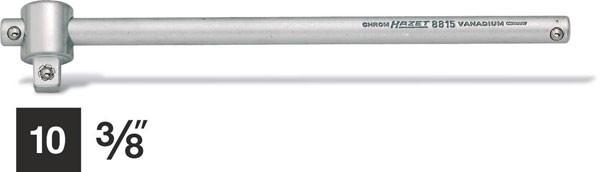 Hazet Poignée coulissante - Carré massif 10 mm (3/8 pouce) - Longueur totale: 198 mm - 8815