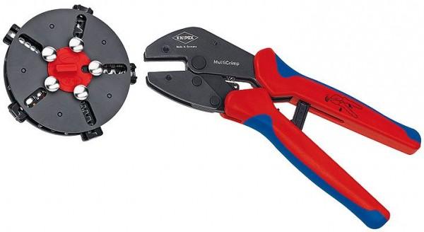 Knipex KNIPEX MultiCrimp® Krimptang met wissellader en 5 krimpprofielen, 250 mm - 973302