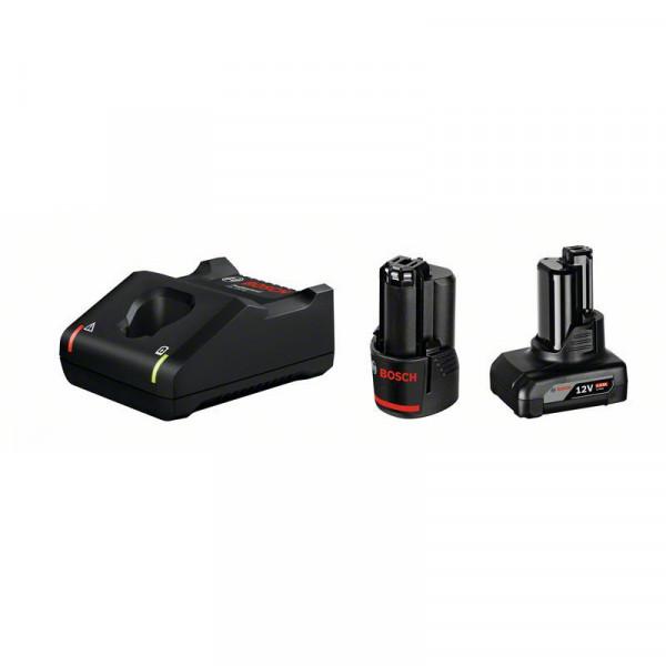 Bosch Professional Starter-Set 1 x GBA 12V, 2Ah + 1 x GBA 12V, 4Ah + GAL 12V-40 - 1600A01NC9