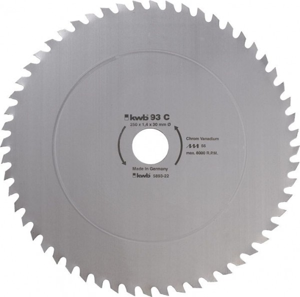 KWB Cirkelzaagblad voor de bouw en de tafel zagen ? 300 mm - 593022