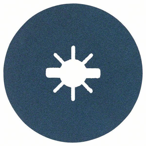Bosch Dischi fibrati per levigatura X-LOCK Ø125 mm, G 120, R574, Best for Metal, 1 pz. - 2608619164