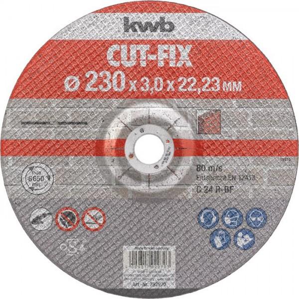 KWB CUT-FIX® doorslijpschijven, steenbewerking, ø 230 mm - 792970