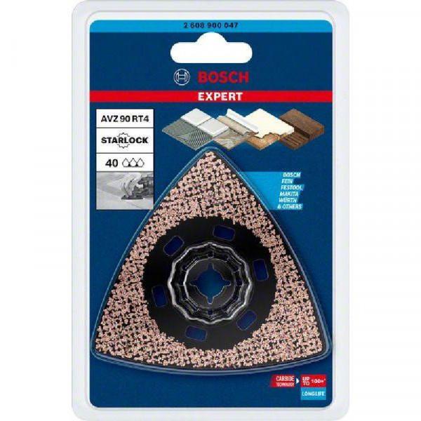 Bosch Professional EXPERT Sanding Plate AVZ 90 RT4 Blatt für Multifunktionswerkzeuge, 90mm, für oszillierende Multifunktionswerkzeuge - 2608900047