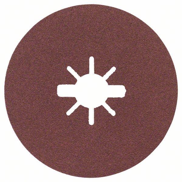 Bosch Dischi fibrati per levigatura X-LOCK Ø115 mm, G 100, R444, Expert for Metal, 1 pz. - 2608619169
