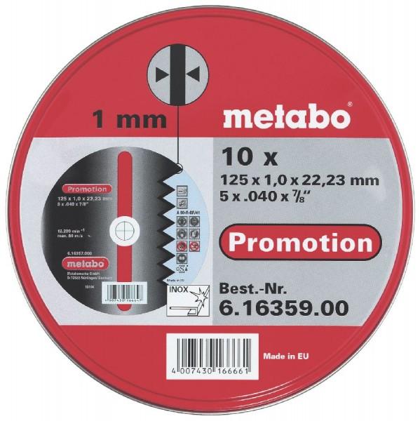 Metabo Trennscheiben Promotion 115x1,0x22,23 Inox, TF 41