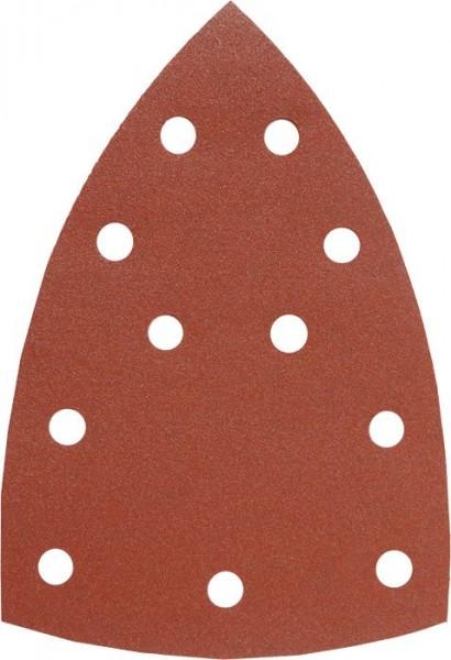 KWB QUICK-STICK schuurdriehoeken, HOUT & METAAL, edelkorund, 100 x 147 mm - 493070