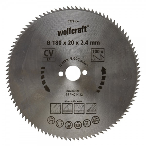 Wolfcraft Cirkelzaagblad 180mm - 6272000