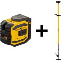 Stabila Laser a piombo e a linee incrociate LAX 300, set da 5 unità - 18482