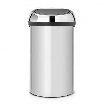 Brabantia Touch bin 60 L / Deckel Brilliant steel - Metallic Grey