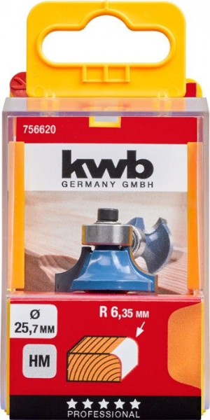 KWB Afrondfrees HM, met aanloopkogellager - 756620