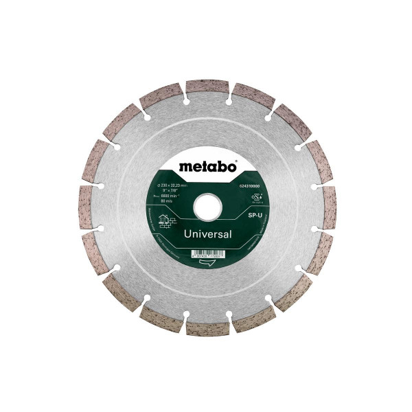 "Metabo Disco de cortar diamantado ""SP"" 230x22,23 mm, Universal, segmentiert (624310000)"