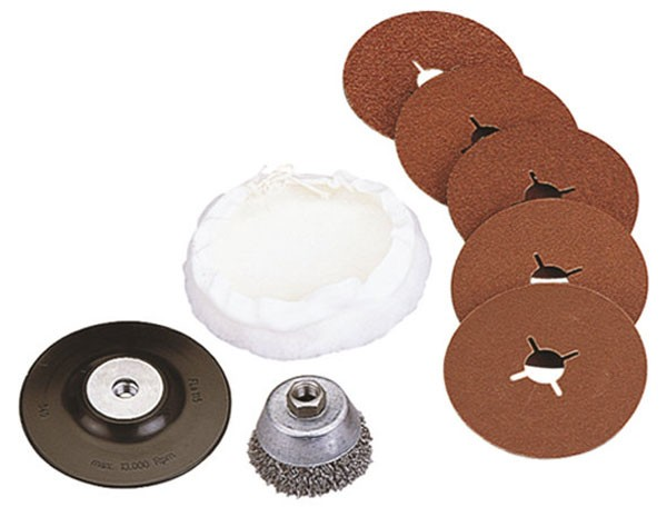 Wolfcraft Assortiment hobby pour meuleuses d'angles