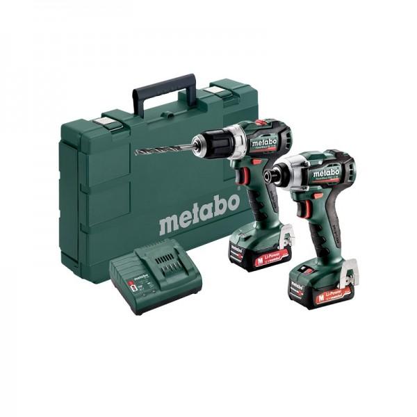 Metabo 12V Akku-Combo Set Bohrschrauber PowerMaxx BS 12 BL + Schlagschrauber PowerMaxx SSD 12 BL - 685168000