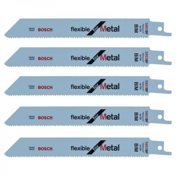 5er-Pack Flexible for Metal BOSCH Säbelsägeblatt S 922 BF