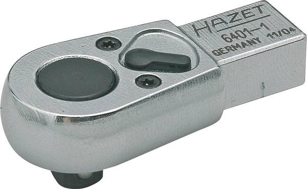 Hazet Einsteck-Umschaltknarre - Einsteck-Vierkant 9 x 12 mm - Vierkant massiv 6,3 mm (1/4 Zoll) - Gesamtlänge: 46.5 mm - 6401-1