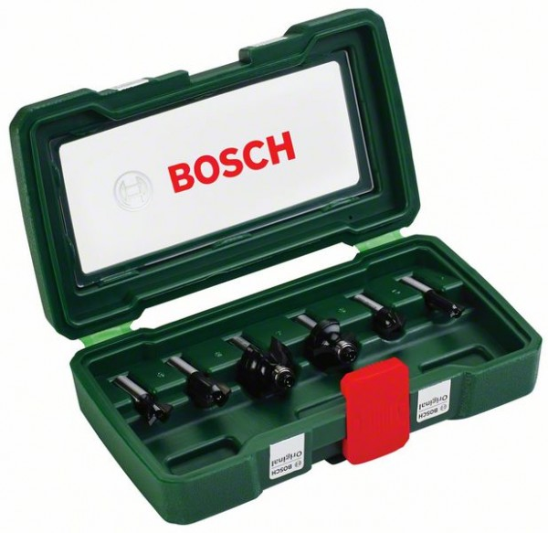 Bosch Cassette de 6 fraises au carbure (queue de Ø 8 mm)