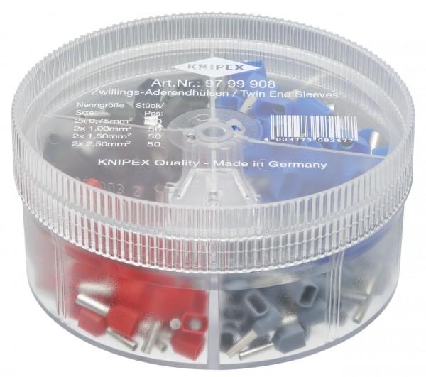 Knipex Boîtier d'assortiment avec embouts de câble jumelés - 97 99 908