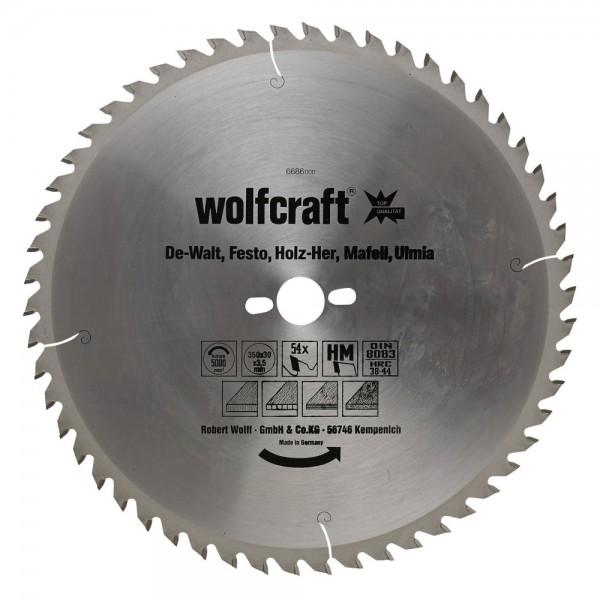 Wolfcraft lama per seghe circolare da banco HM, di prec., 54 denti