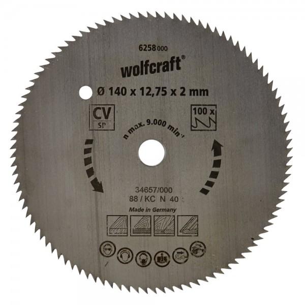 Wolfcraft Lame de scie circulaire CV, 80 dents