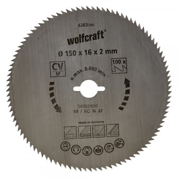 Wolfcraft Lame de scie circulaire CV, 64 dents