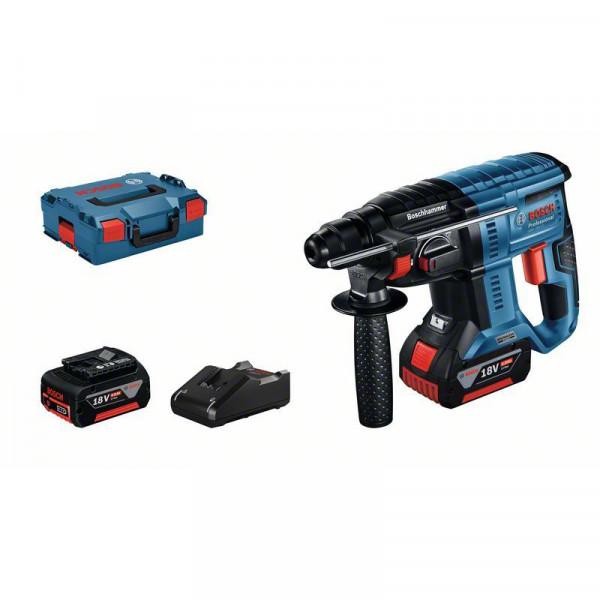 Bosch Professional Akku-Bohrhammer mit SDS plus GBH 18V-21, 2x Akku 4.0Ah, Schnellladegerät, L-BOXX - 0611911102