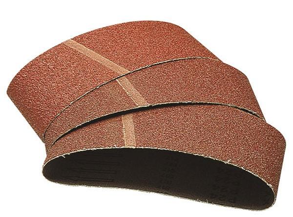 Wolfcraft Bandes abrasives 76x457 mm , grain 40/80/120, Lot de 9 (3 de chaque)