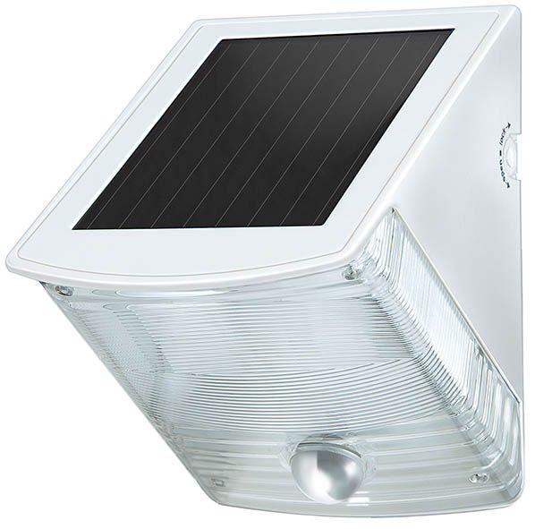 Brennenstuhl Lampe LED murale solaire SOL 04 plus IP44 avec détecteur de mouvements infrarouge 2xLED 0,5W 85lm Couleur Gris-Blanc