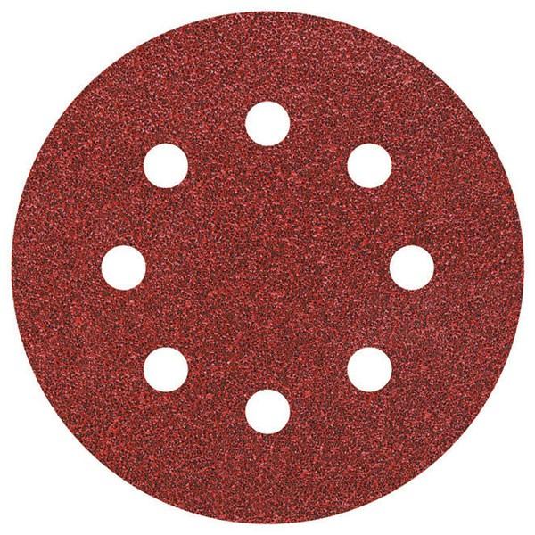 Wolfcraft Disques abrasifs corindon auto-agrippants perf., grain 40