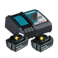 Makita Power Source Kit Li 18,0V 6Ah inkl. Schnellladegerät DC18RC und 2 Akkus im Karton - 199480-6