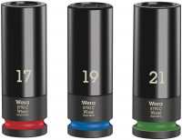 "Wera Wheel Impaktor C Set 1 Kit chiavi a bussola, con attacco da 1/2"" - 05004595001"