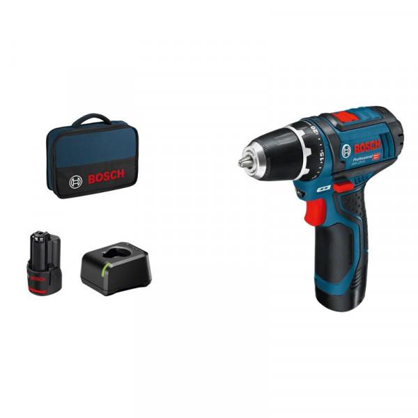 Bosch Professional Taladro/atornillador a batería GSR 12V-15 - 060186810F