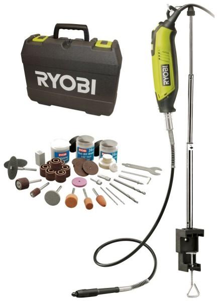 Ryobi Feinschleifer EHT150V 150 W Rotationswerkzeug mit 115-tlg. Zubehör, inkl. Koffer