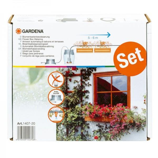Gardena Bewässerungssystem Vollautomatische Blumenkastenbewässerung - Für bis zu 5 - 6 m Blumenkästen