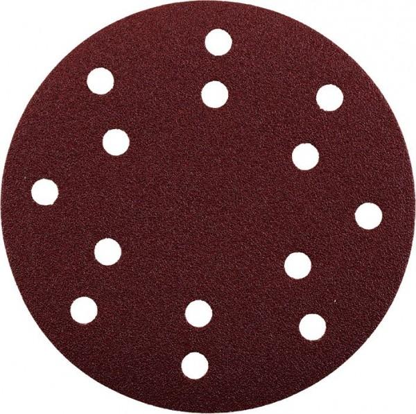 KWB QUICK-STICK schuurschijven, HOUT & METAAL, edelkorund, Ø 150 mm, geperforeerd - 492018