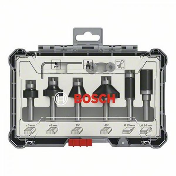 Bosch Rand- und Kantenfräser-Set, 8-mm-Schaft, 6-teilig - 2607017469