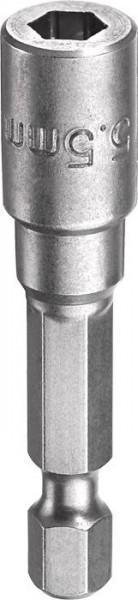 """KWB Zeskant-dopsleutel, 1/4"""" met E 6.3-schacht, 5.5 mm - 102755"""