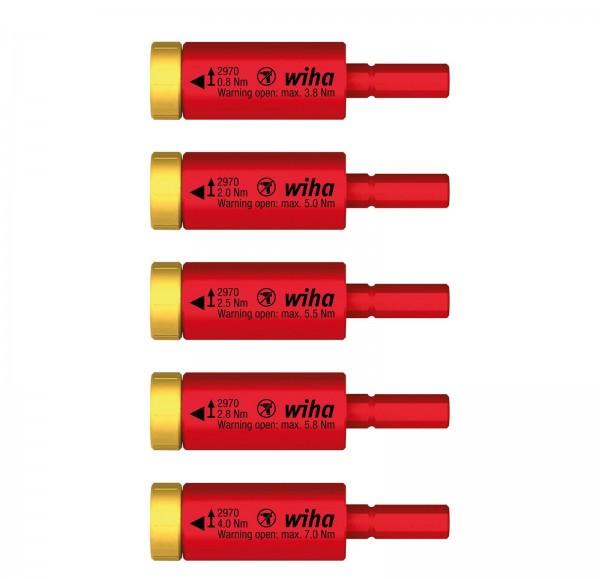 Wiha Set di adattatore dinamometrico easyTorque electric per slimBit e supporto slimVario, 5 pz. in blister (41479)