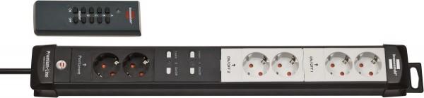 Brennenstuhl Premium-Line Funkschalt-Steckdosenleiste RC PL1 1001 6-fach schwarz/lichtgrau 3m H05VV-F 3G1,5