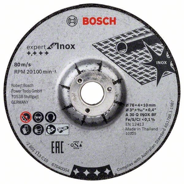 Bosch Schruppscheibe Expert for Inox A 30 Q INOX BF, 76 x 4 x 10 mm, 2 stück - 2608601705