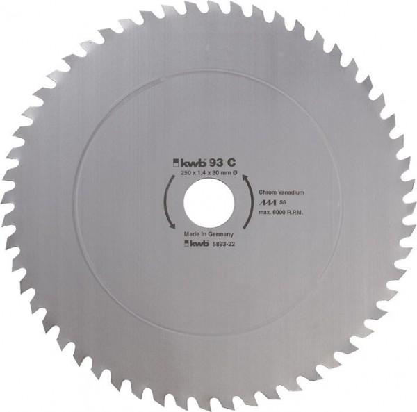KWB Cirkelzaagblad voor de bouw en de tafel zagen ? 250 mm - 589322