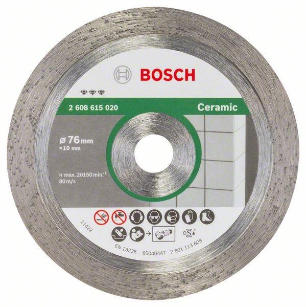 Bosch Diamanttrennscheibe Best for Ceramic passend zu Winkelschleifer GWS 10,8-76 V-EC
