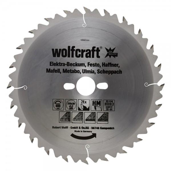 Wolfcraft lama per seghe circolare da banco HM, 24 denti