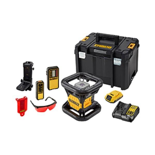 DeWALT Laser rotante, rosso, batteria e caricabatteria - DCE079D1R-QW