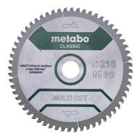 "Metabo Hoja de sierra ""multi cut classic"", 254x2,6/1,8x30 Z60 DP/DT 5°neg - 628285000"