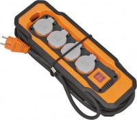 Brennenstuhl Stopcontactblok IP54 (med kabelkanaal, antraciet, oranje) - 9156480100