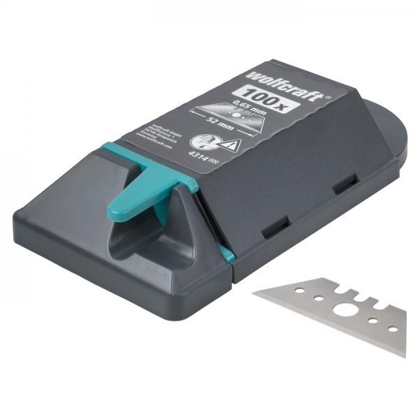 Wolfcraft 100 Profi-Trapezklingen in Spenderbox, 52 mm - 4314000